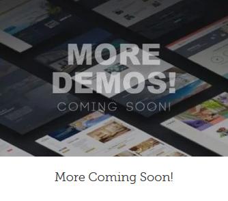 WordPress webside med Coming soon design