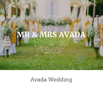 Billig hjemmeside wedding design